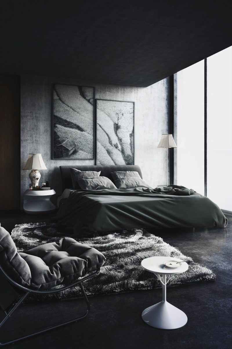 black bedroom black bedroom Mystery & Charm with 10 Black Bedrooms gorgeous modern black master bedroom design decorating ideas with black color master bedroom ideas