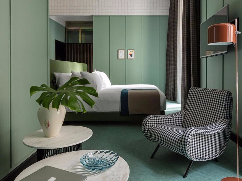green bedroom 10 Exuberant Green Bedroom Designs green bedroom design by patricia urquiola master bedroom ideas modern bedroom design