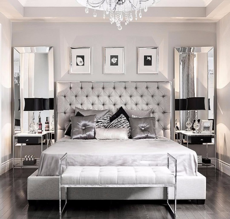 Grey Master Bedroom: 10 Ideas For Placing A Mirror In Bedroom