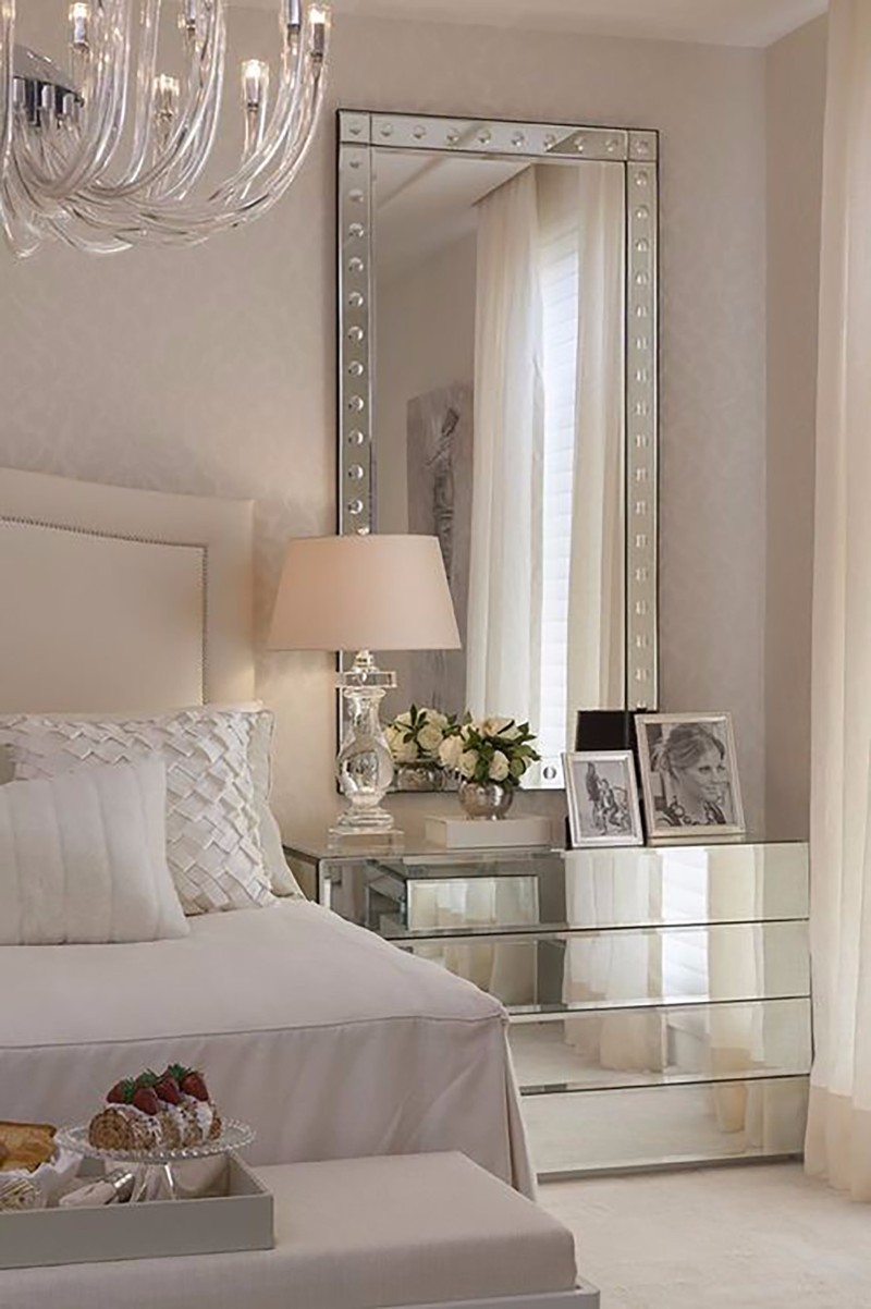 mirror in bedroom 10 Ideas for Placing a Mirror in Bedroom modern bedroom design with beautiful mirrored nightstand bedroom design ideas master bedroom decor