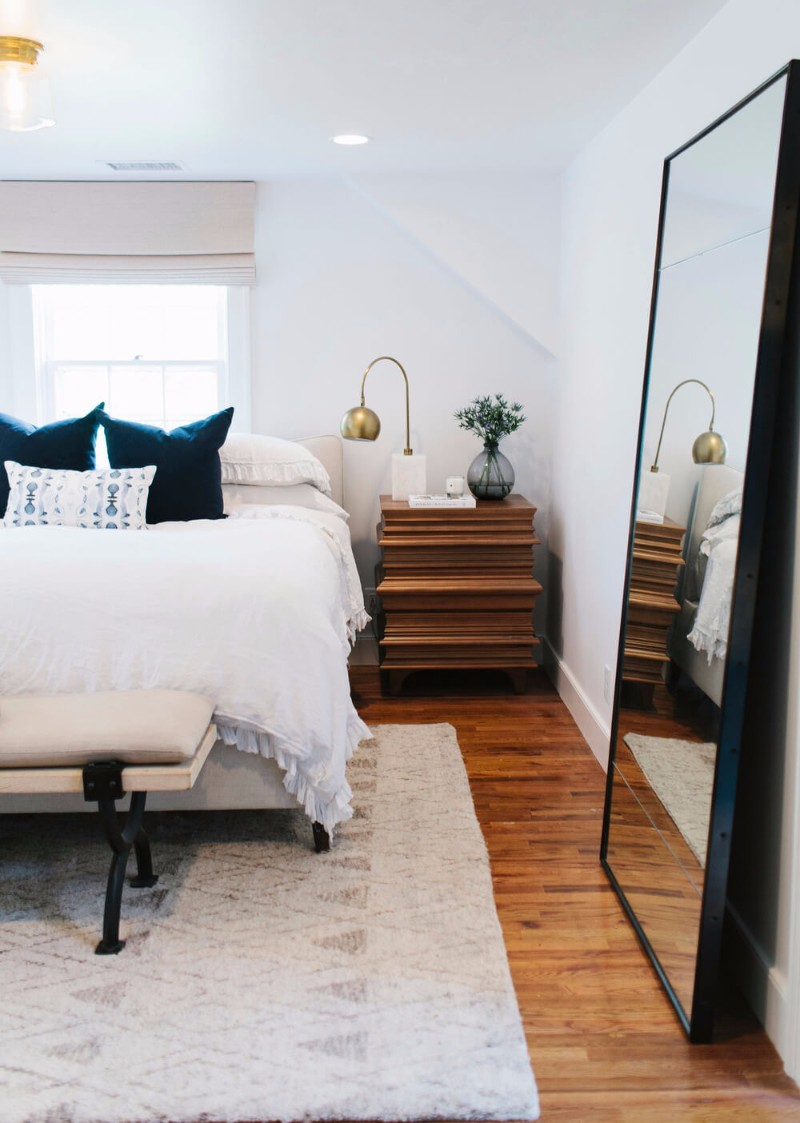 mirror in bedroom 10 Ideas for Placing a Mirror in Bedroom wonderful bedroom bench with end of bed benches emily henderson in trendy bedroom bench