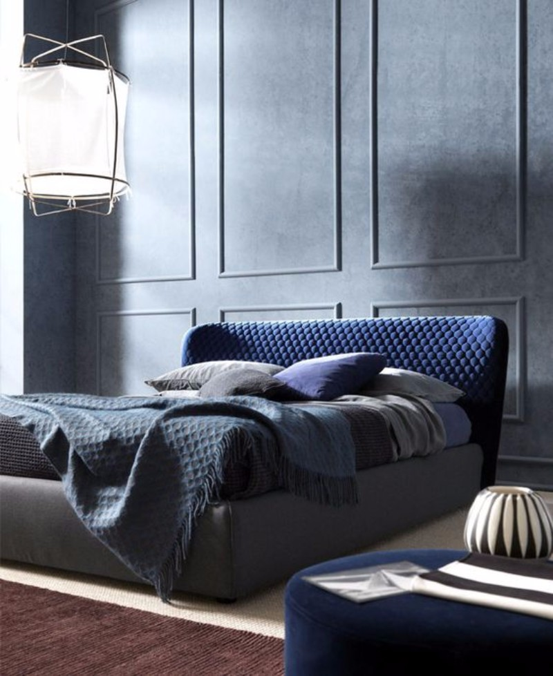 bedroom inspiration Bedroom Inspiration in Shades of Grey and Blue 790aafa350fdbafb1ccb8baa5edd5d92