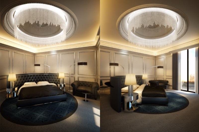 master bedroom 12 Palatial Master Bedrooms in Dubai by TAO Designs TAO Moscow Penthouse Master Bedroom Palace interior design inspiration ideas 5