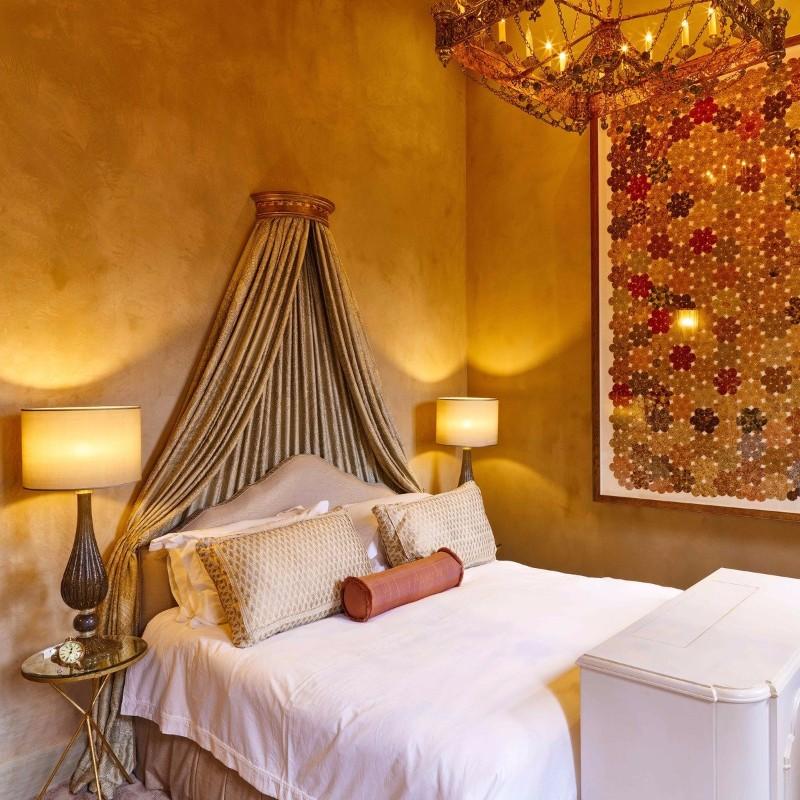 Bedroom Inspiration Orange Bedroom Inspiration for Thanksgiving 2017 Venice Golden Bedroom design by Goldrich Interiors