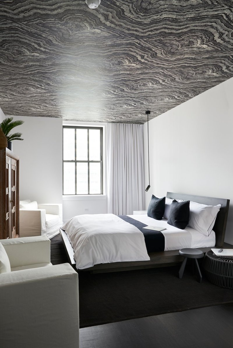bedroom inspiration 10 Bedroom Inspirations for Apartment Interior Design beautiful black and white apartment bedroom with charming ceiling design for modern interior design