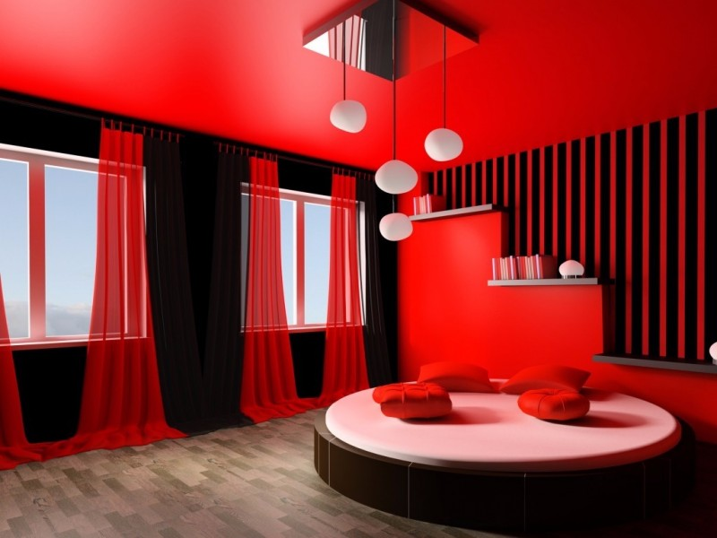 10 Contemporary Red and Black Bedrooms – Master Bedroom Ideas