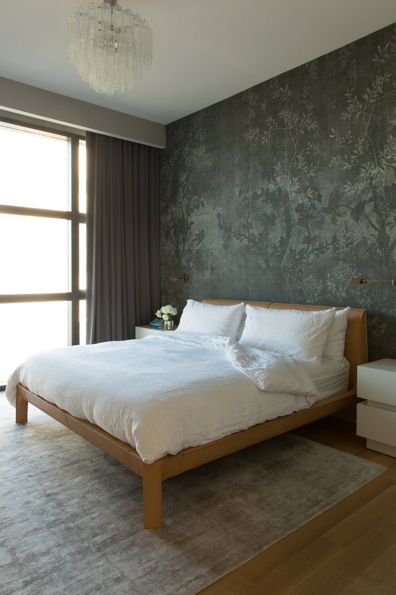 bedroom inspiration 10 Bedroom Inspirations for Apartment Interior Design charming bedroom with beautiful wallpaper and gorgoeus contemporary bed