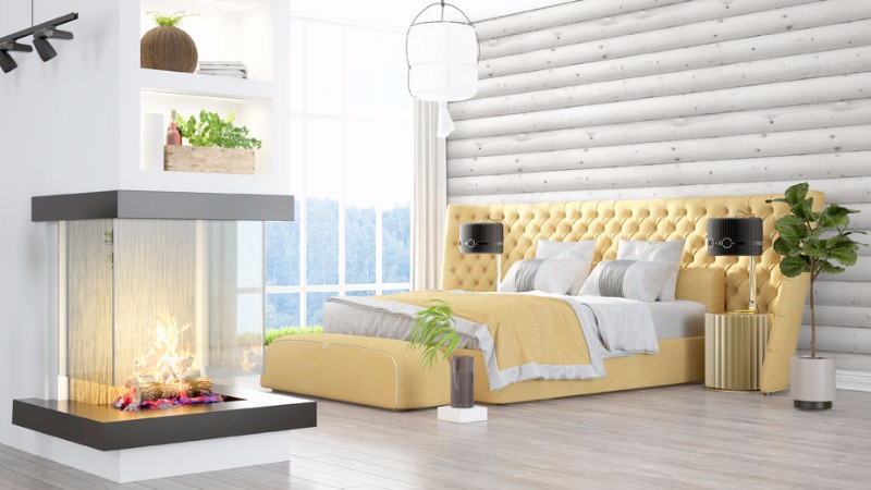 master bedroom 10 Master Bedroom With Fireplaces For Winter 2017 charming yellow bedroom design ideas modern master bedroom in beautiful yellow tones