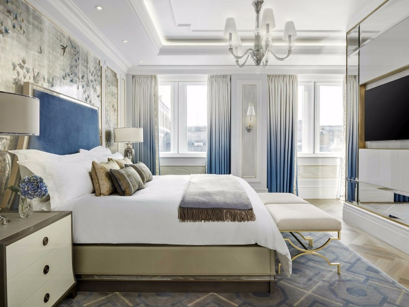 12 luxury hotel room designs by richmond international for Hotel bedroom design