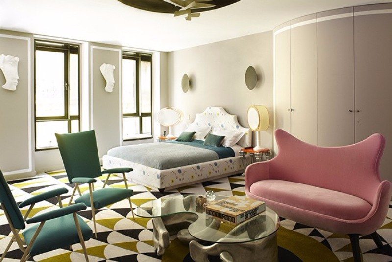 master bedroom 10 Master Bedrooms Inspired by Modern Surrealism master bedrooms inspired by modern surrealism bedroom design ideas pink sofa