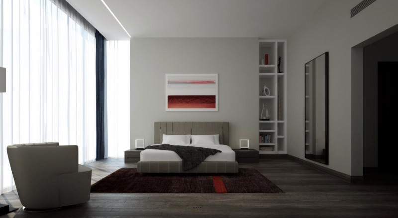 simple bedroom design 10 Elegant yet Simple Bedroom Designs red accent designs 1