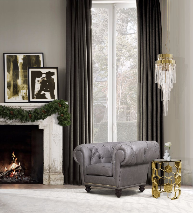 cozy bedroom ideas 10 Cozy Bedroom Ideas For Christmas Day chesterfield armchair hr 01 natal