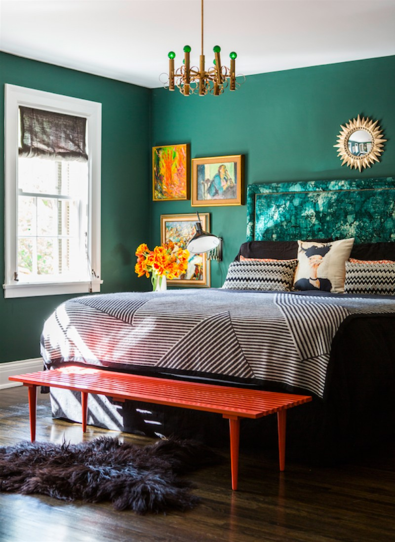 green bedroom 10 Stunnning Emerald Green Bedroom Designs emerald green bedroom design ideas modern master bedroom design