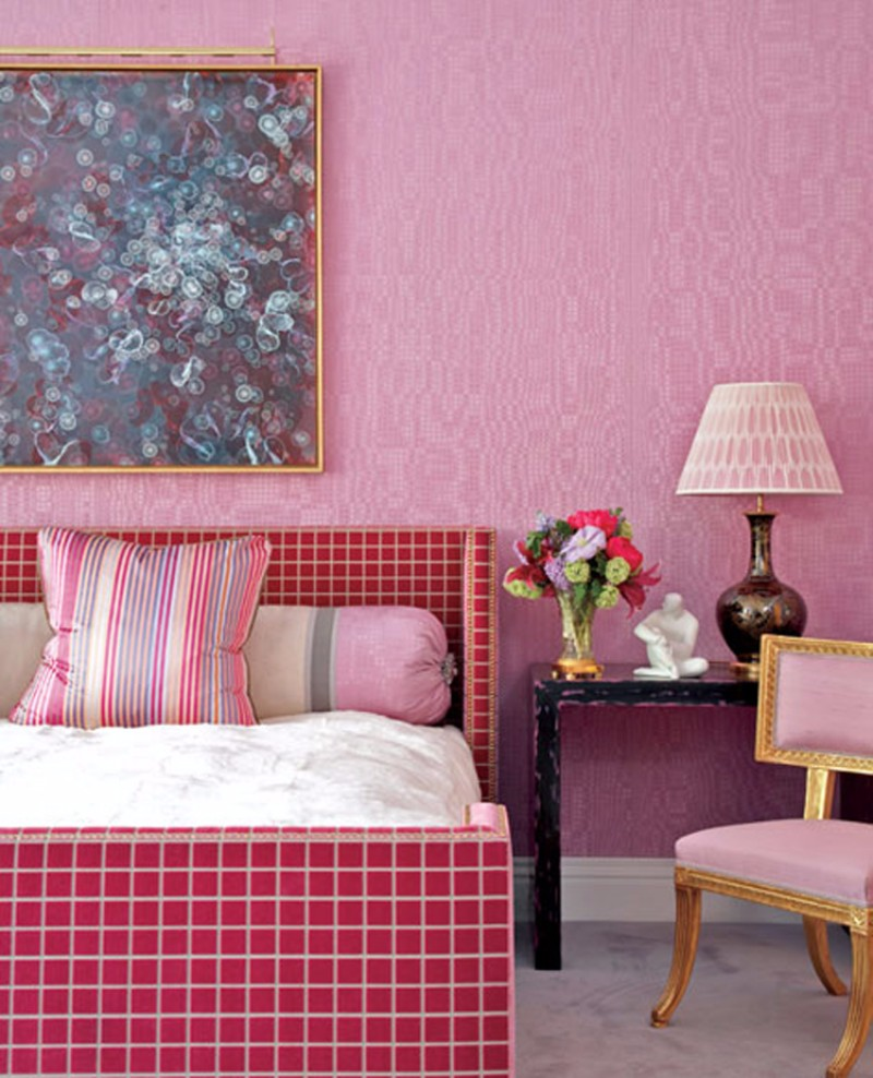 bedroom inspiration Bedroom Inspiration: 10 Charming Bedrooms in Millennial Pink jamie drake pink bedroom design millenial pink