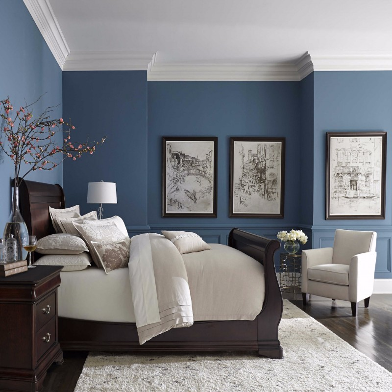 blue bedroom Master Bedroom Trends 2018: Palace Blue Bedrooms master bedroom ideas modern bedroom design decor bedroom inspiration