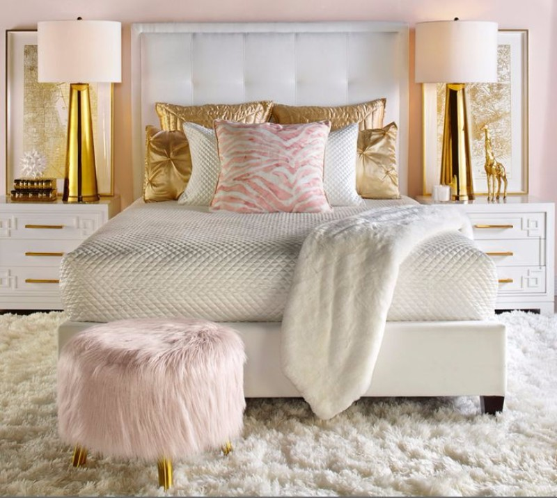 Light Brown Colour Bedroom Princess Bedroom Accessories Gold Bedroom Accessories Bedroom Modern Design: Bedroom Inspiration: 10 Charming Bedrooms In Millennial
