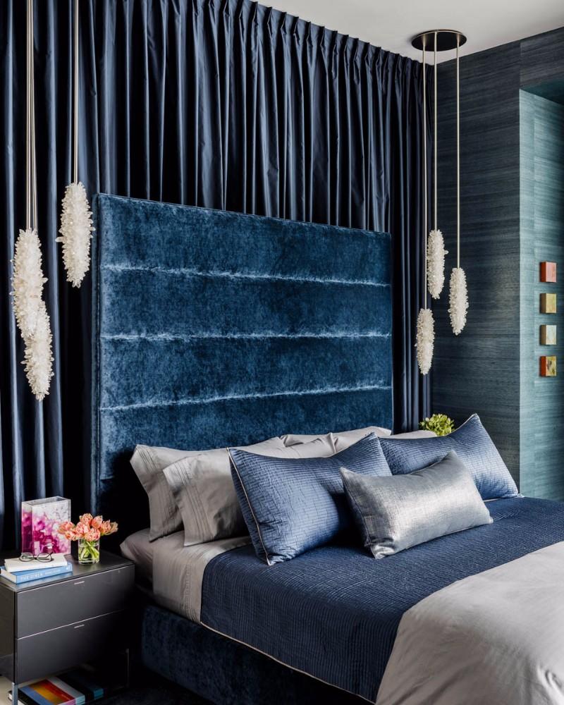 blue bedroom Master Bedroom Trends 2018: Palace Blue Bedrooms modern master bedroom design ideas bedroom design decor