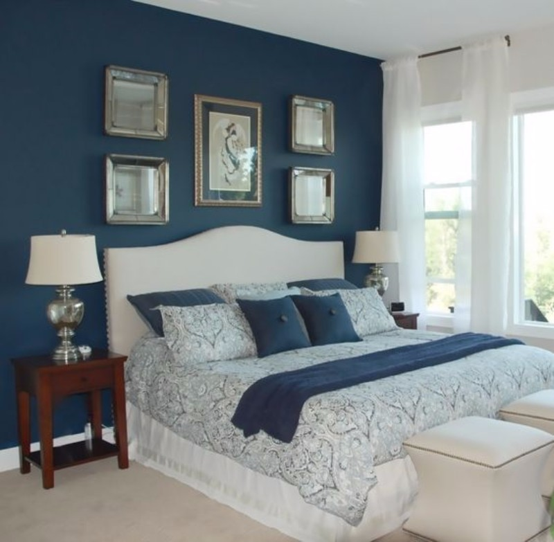 blue bedroom Master Bedroom Trends 2018: Palace Blue Bedrooms palace blue bedroom design ideas modern master bedroom decor design ideas