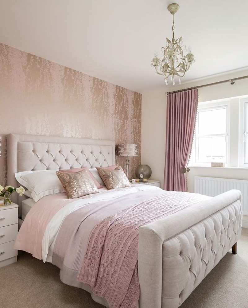 bedroom inspiration Bedroom Inspiration: 10 Charming Bedrooms in Millennial Pink pink bedroom design ideas modern bedroom interior design