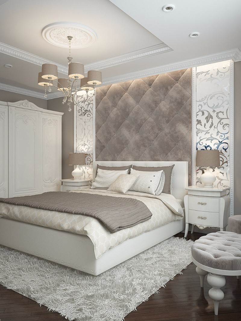 Sumptuous bedroom inspiration in shades of silver master for Bedroom inspirations and ideas