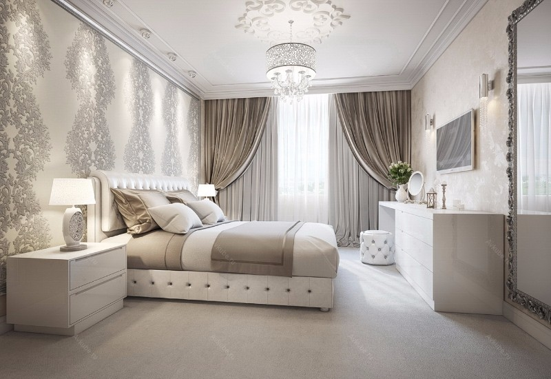 bedroom inspiration Sumptuous Bedroom Inspiration in Shades of Silver silver master bedroom design ideas master bedroom design bedroom inspiration