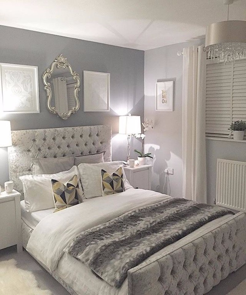 sumptuous bedroom inspiration in shades of silver master