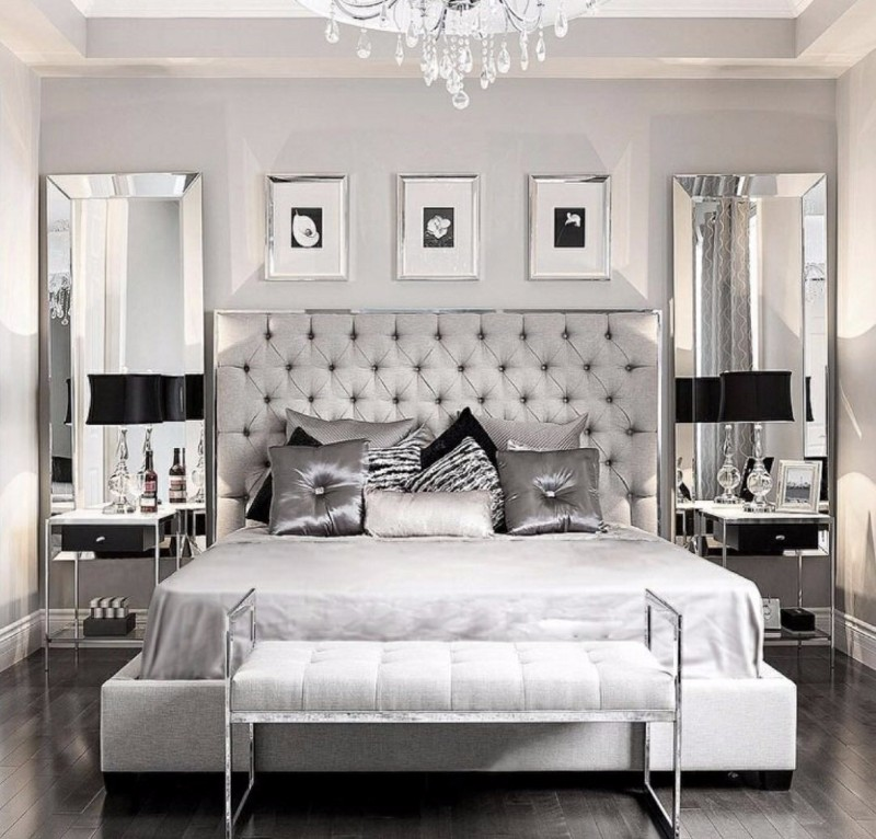 Sumptuous Bedroom Inspiration in Shades of Silver – Master Bedroom Ideas