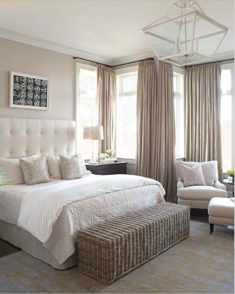 bedroom color scheme Bedroom Color Schemes for 2018: Cream cream modern master bedroom ideas bedroom interior design