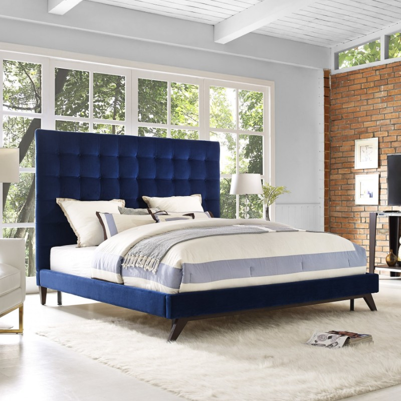 blue bedroom Deep Blue Bedroom Inspiration for 2018 Deep Blue Bedroom Inspiration for 2018 2