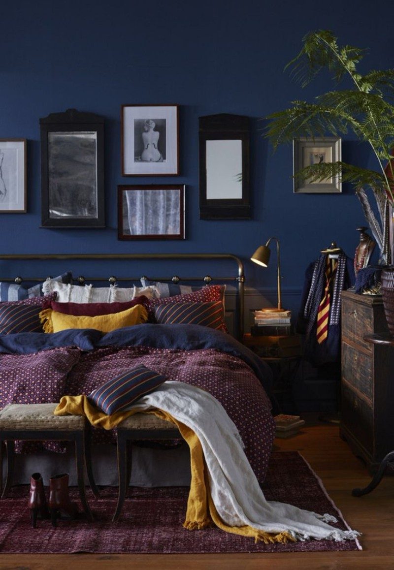 blue bedroom blue bedroom Deep Blue Bedroom Inspiration for 2018 Deep Blue Bedroom Inspiration for 2018