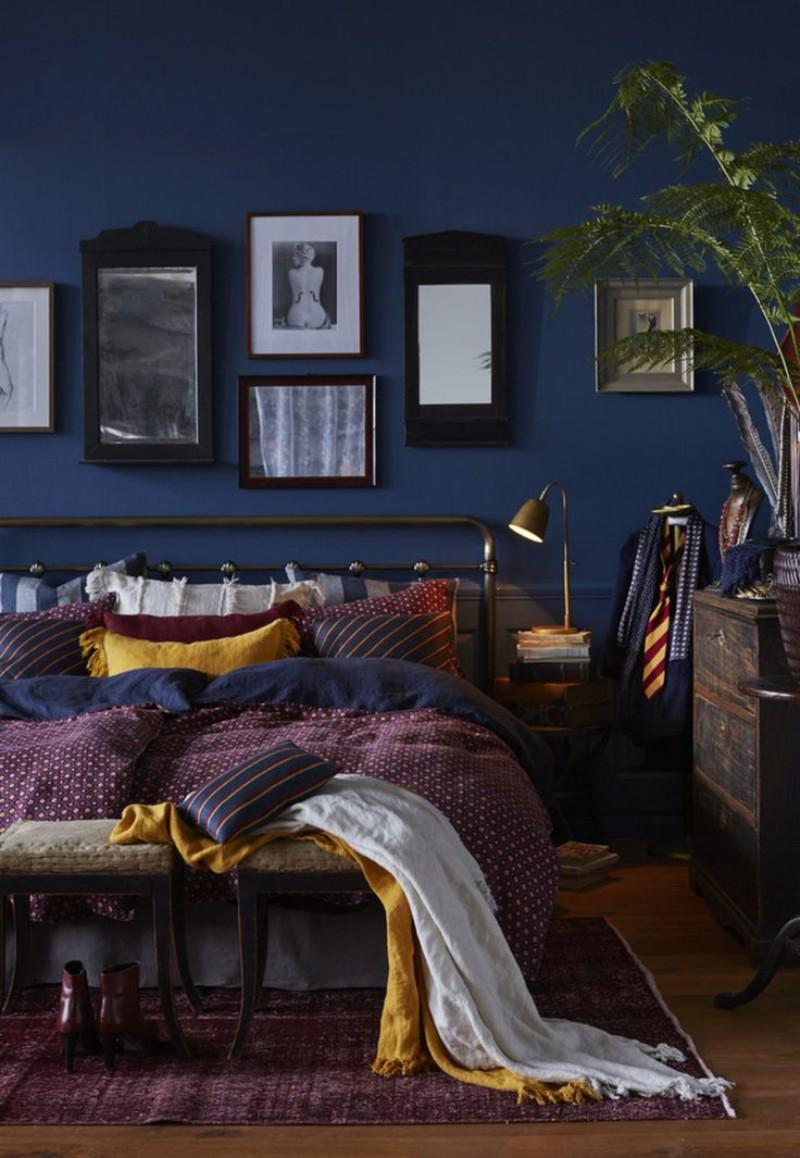 blue bedroom blue bedroom Deep Blue Bedroom Inspiration for 2018 Deep Blue Bedroom Inspiration for 2018