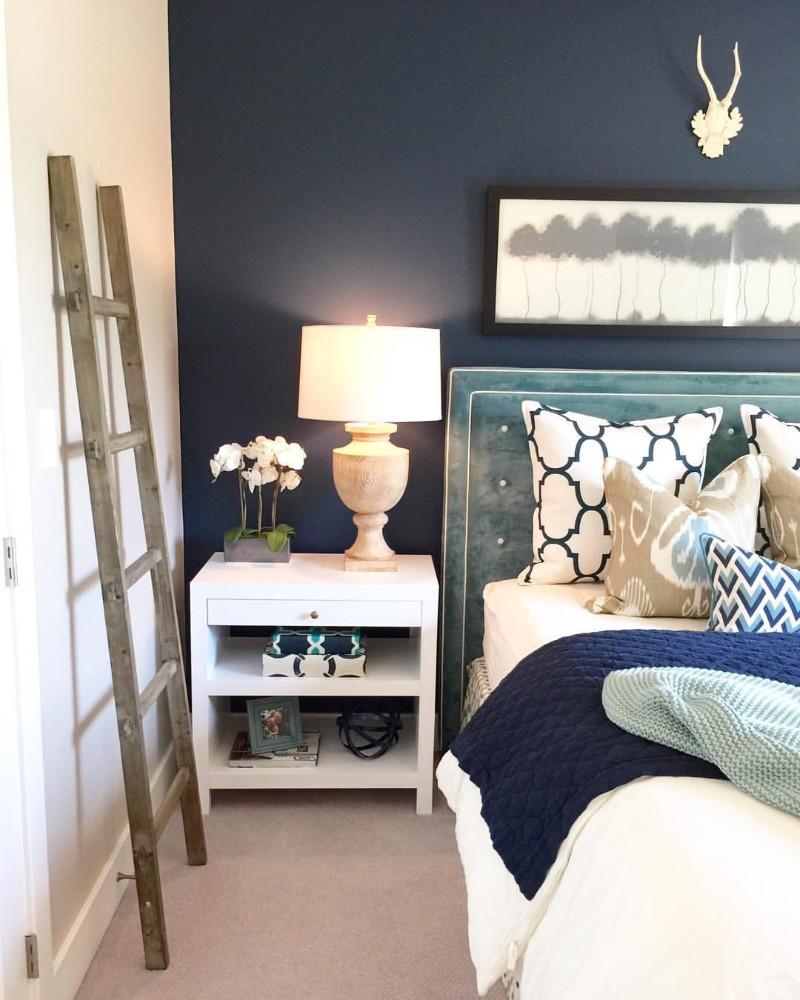 blue bedroom blue bedroom Deep Blue Bedroom Inspiration for 2018 Deep Blue Bedroom Inspiration for 20181