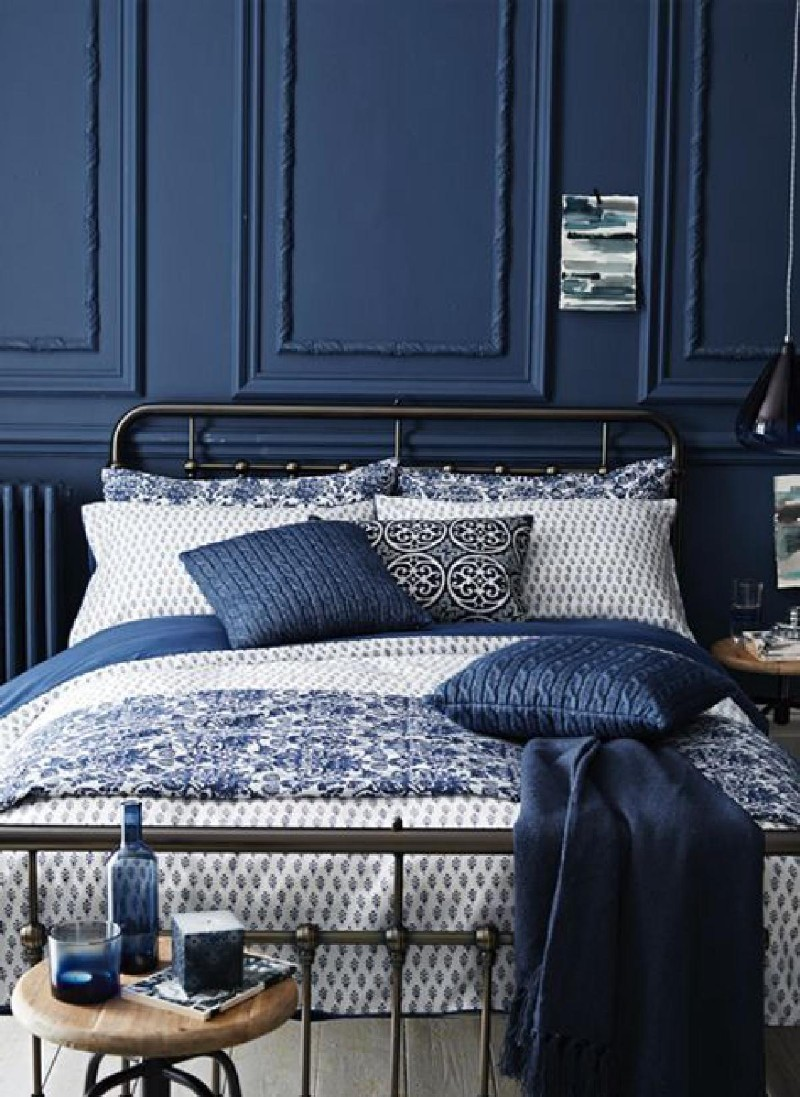 blue bedroom Deep Blue Bedroom Inspiration for 2018 Deep Blue Bedroom Inspiration for 20182
