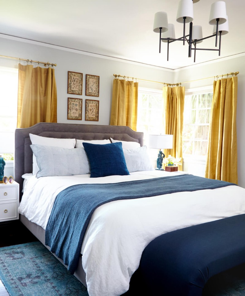 blue bedroom Deep Blue Bedroom Inspiration for 2018 Deep Blue Bedroom Inspiration for 20185 1