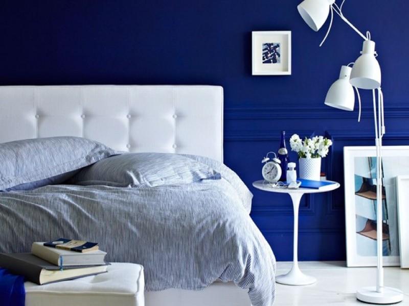 Deep Blue Bedroom Inspiration For 2018 Master Bedroom Ideas