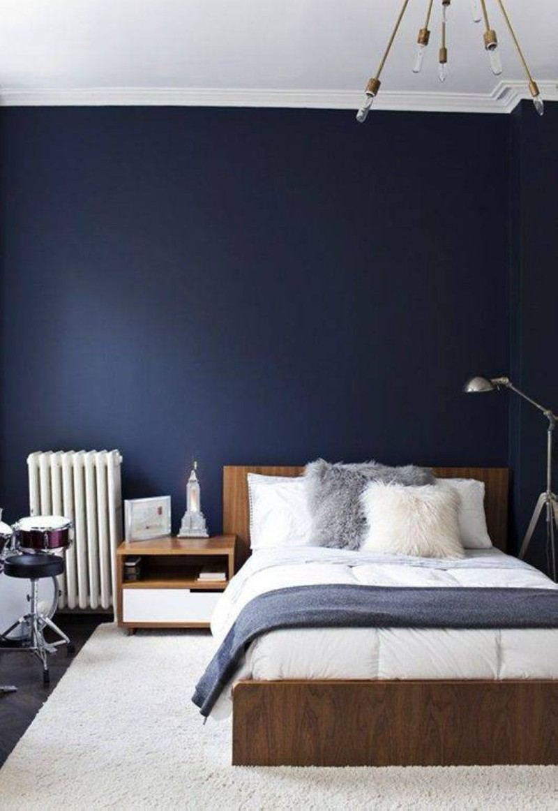 blue bedroom Deep Blue Bedroom Inspiration for 2018 Deep Blue Bedroom Inspiration for 20188
