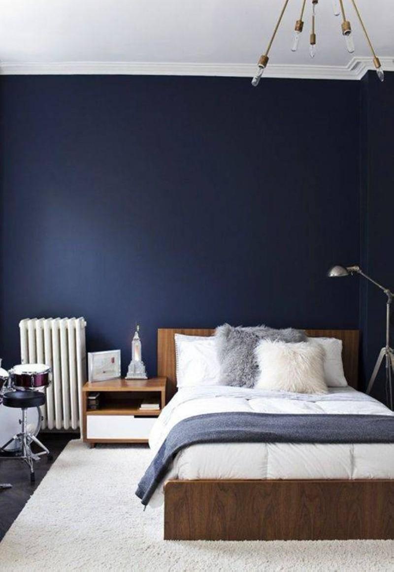 blue bedroom Deep Blue Bedroom Inspiration for 2018 Deep Blue Bedroom Inspiration for 20188