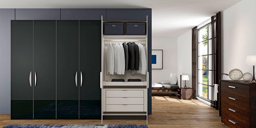 Jutzler imm cologne Enter IMM Cologne 2018: Master Bedroom Ideas by JUTZLER Hamers  Home slaapkamerkasten kledingkastenJutzler draaideurkast zwart 1000x500