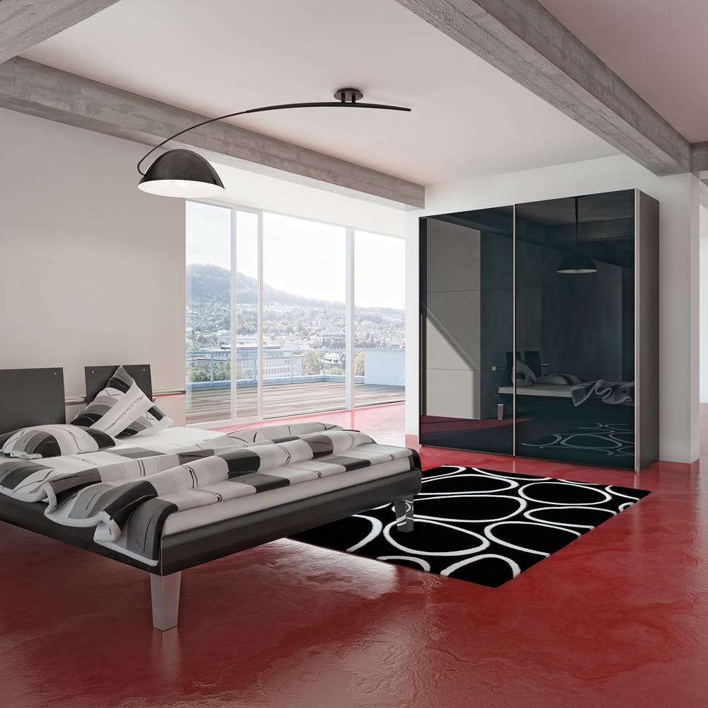 Jutzler IMM Cologne Exhibitor imm cologne Enter IMM Cologne 2018: Master Bedroom Ideas by JUTZLER Jutzler Slideline Lifestyle Black Glass