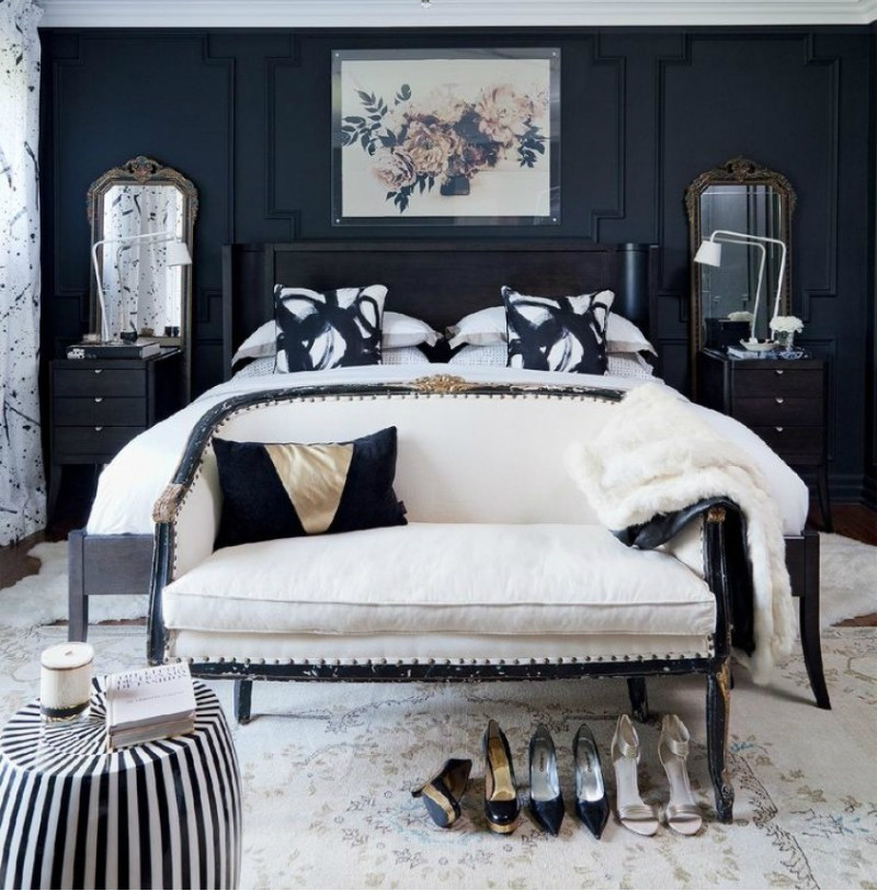 master bedroom 10 Master Bedroom Trends for 2018 black furniture 3