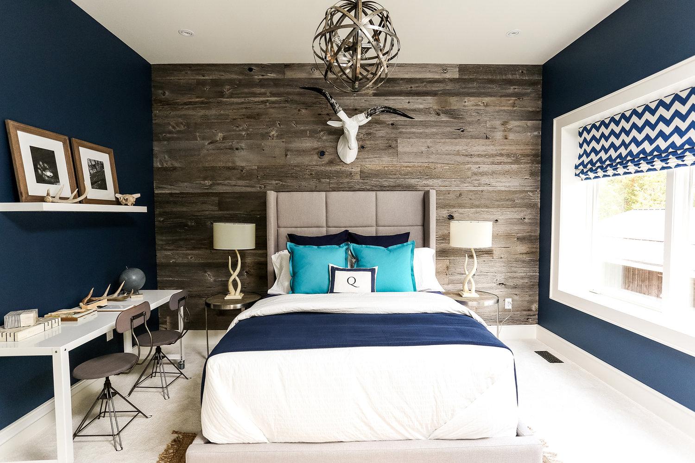 blue bedroom Deep Blue Bedroom Inspiration for 2018 kids