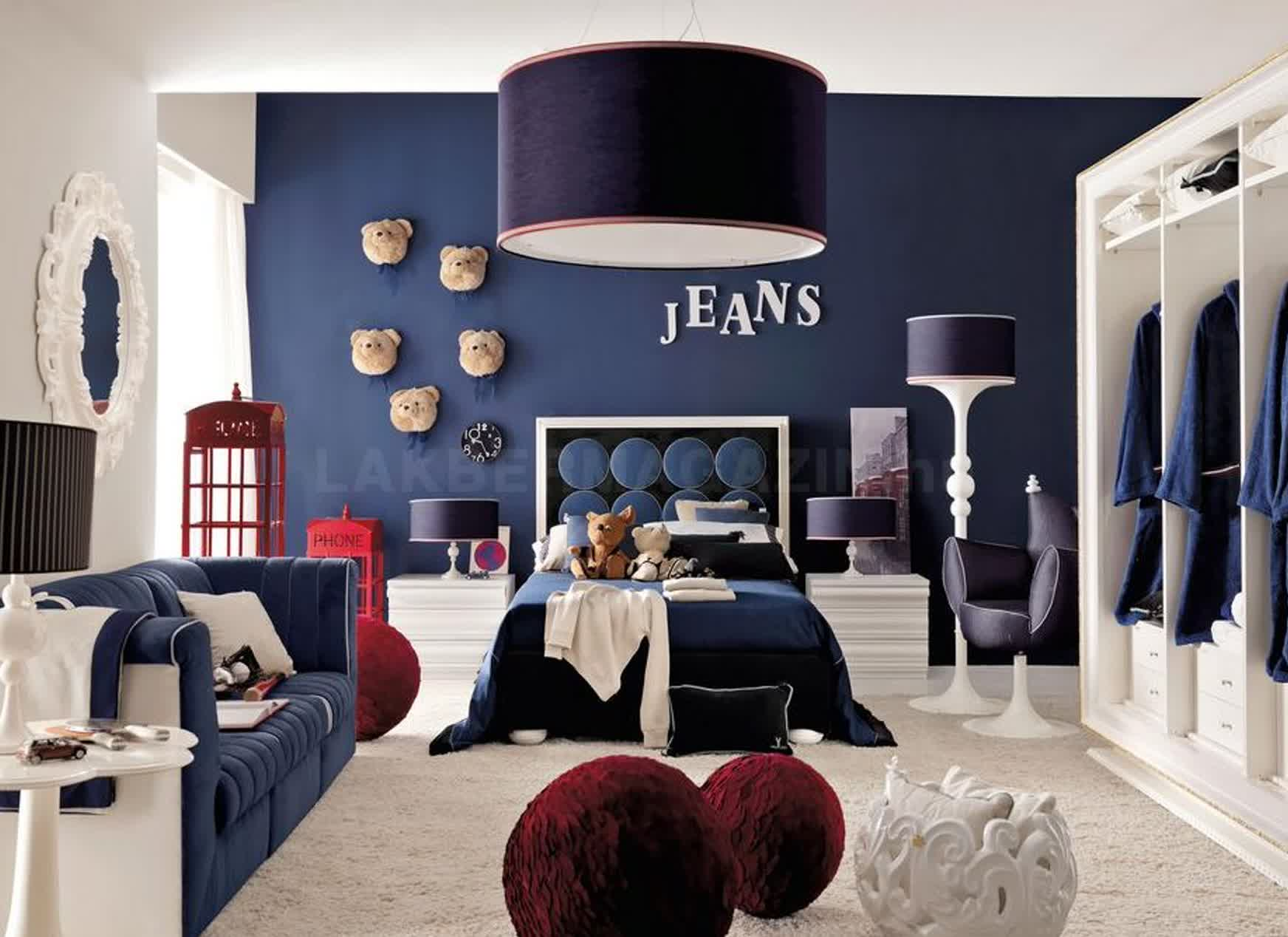 blue bedroom Deep Blue Bedroom Inspiration for 2018 kids2