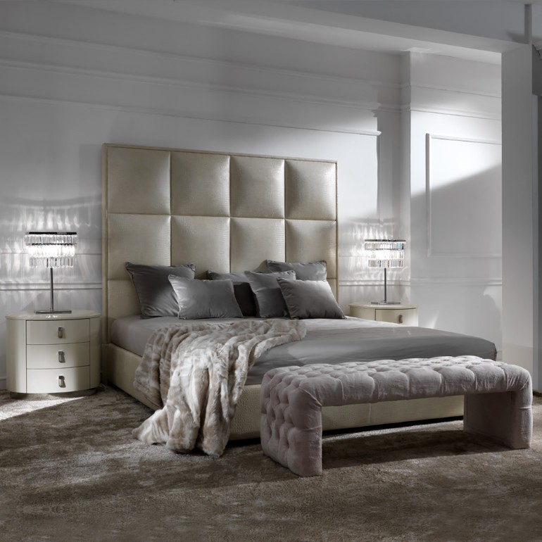 bedroom accessories Supply Your Home With Luxurious Bedroom Accessories Italian Alligator Leather Designer Bed 5
