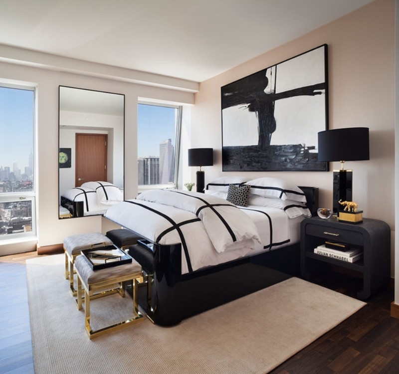 black and white 10 Black and White Master Bedroom Ideas 10 Black and White Master Bedroom Ideas 1
