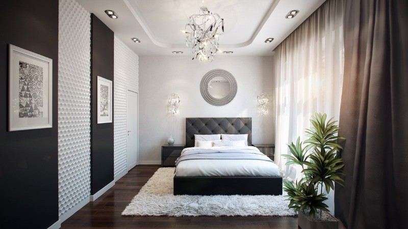 black and white 10 Black and White Master Bedroom Ideas 10 Black and White Master Bedroom Ideas 7