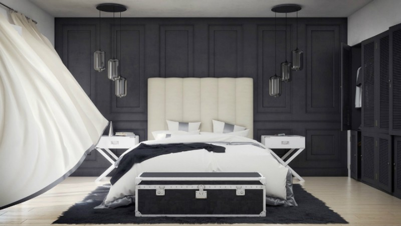 black and white 10 Black and White Master Bedroom Ideas 10 Black and White Master Bedroom Ideas 8