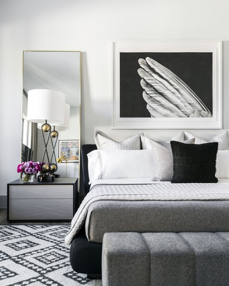 Trending Black And White Bedrooms