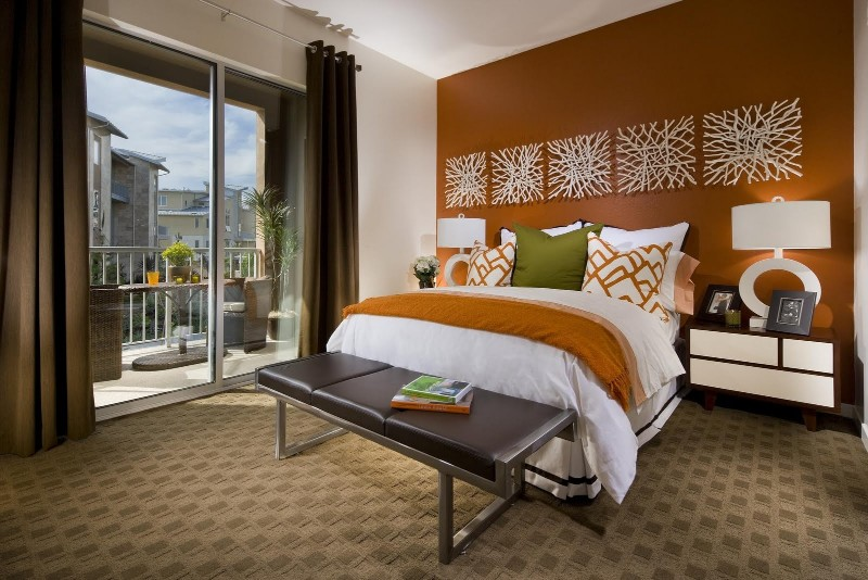 color palette The Perfect Color Palette For Your Master Bedroom orange