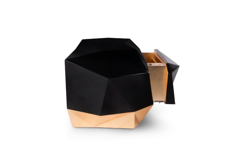 Exclusive design Joinery as a Craft and Skill Behind Boca do Lobo Exclusive Design 2 Diamond Nightstand by Boca do Lobo