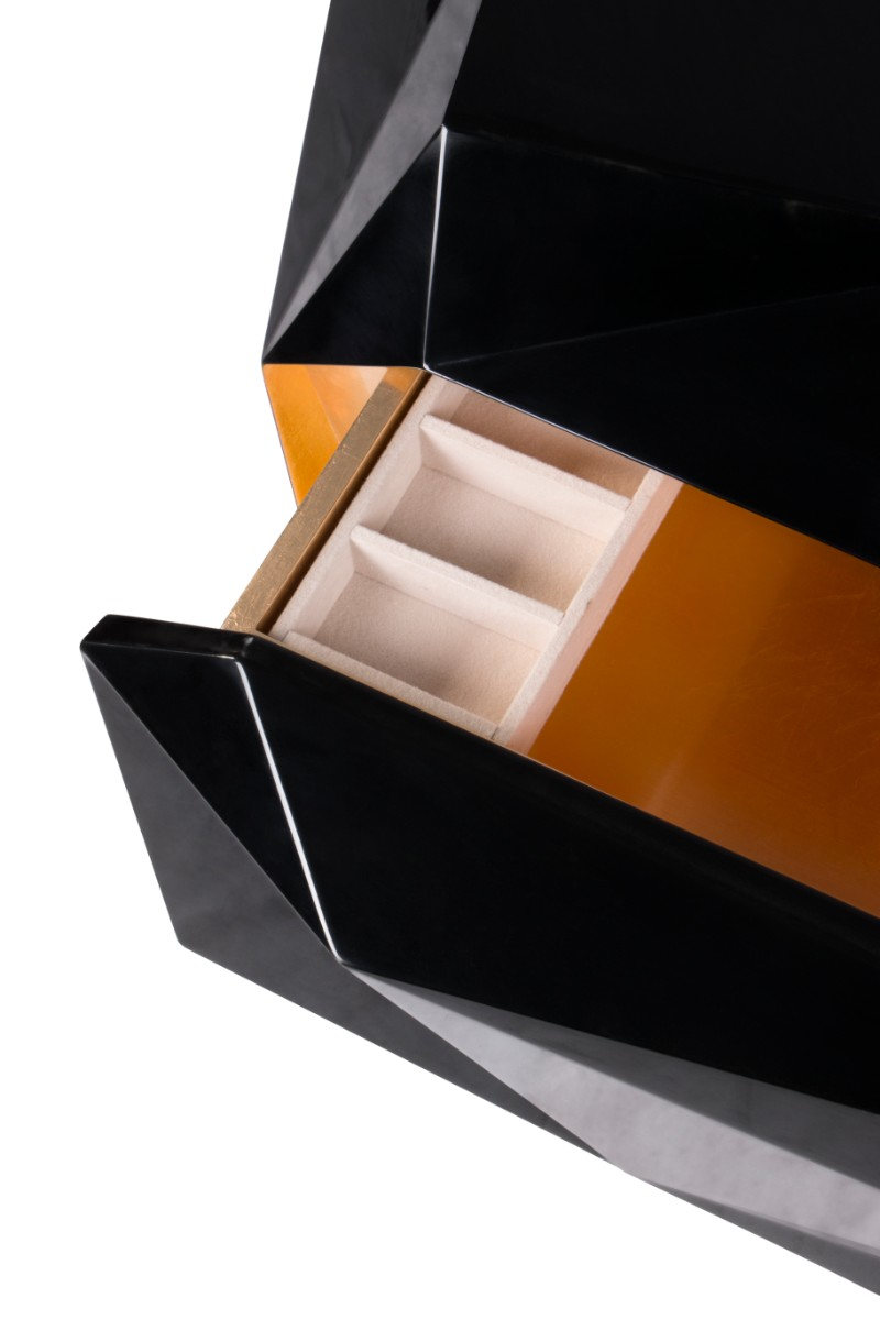 Exclusive design Joinery as a Craft and Skill Behind Boca do Lobo Exclusive Design 3 Diamond Nightstand by Boca do Lobo